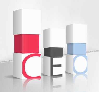 3d illustration concept: CEO stock vector