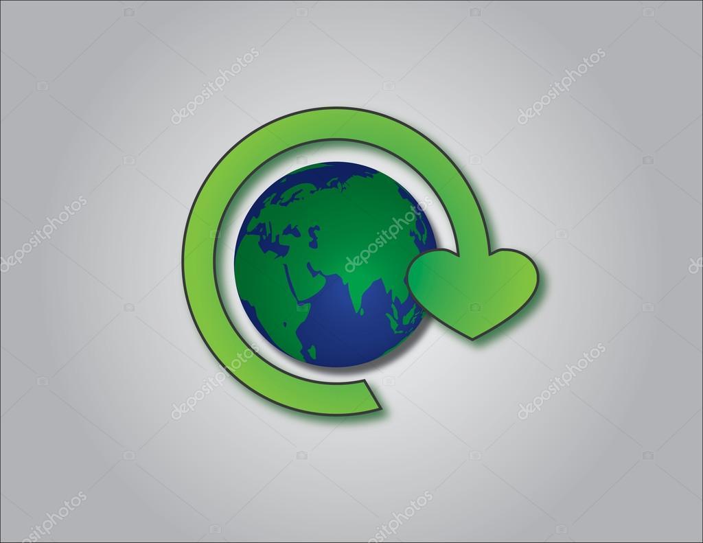 Concepto De Ilustración Del Logo De Reciclaje