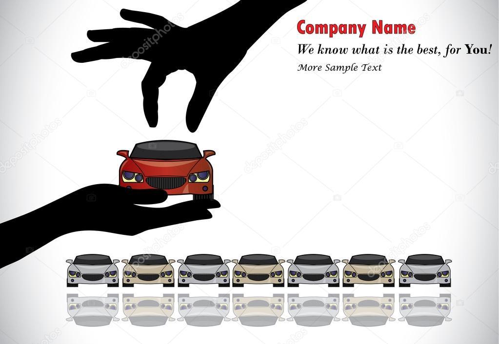 Beste Auto Verkoop Of Auto Sleutel Concept Illustratie Een Hand