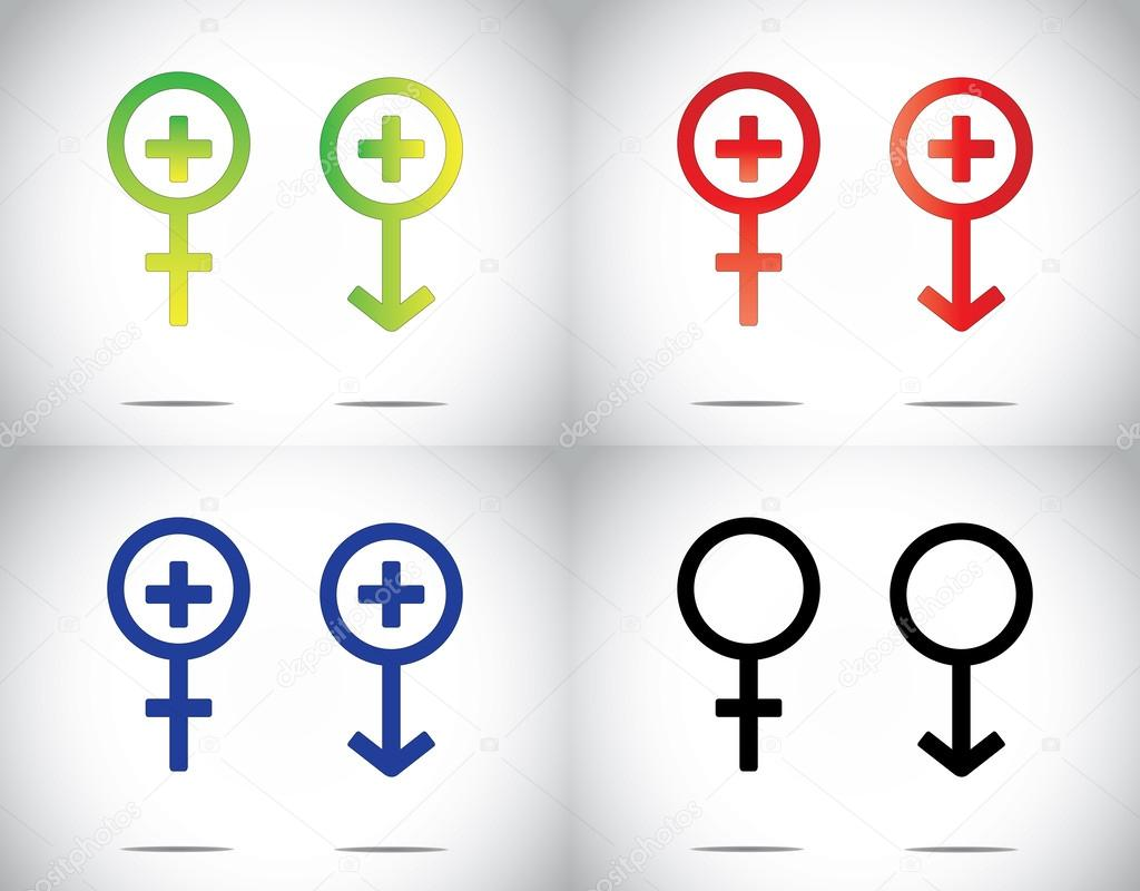 Male female man woman medical health plus symbol collection set male female man woman medical health plus symbol collection set blue green red buycottarizona Images