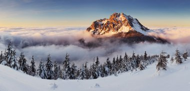 Winter mountain landcape nature