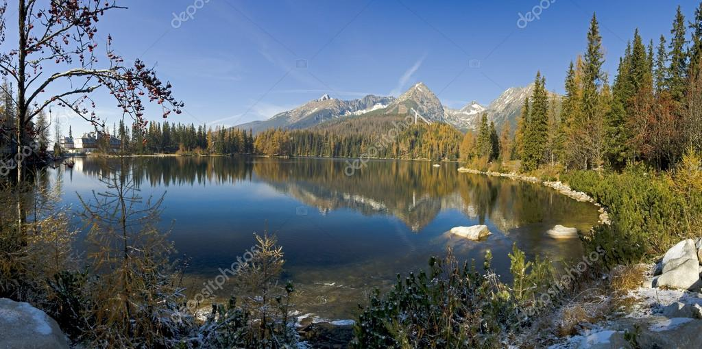 Strbske pleso - Beautiful lake in High Tatras - Slovakia - Europ