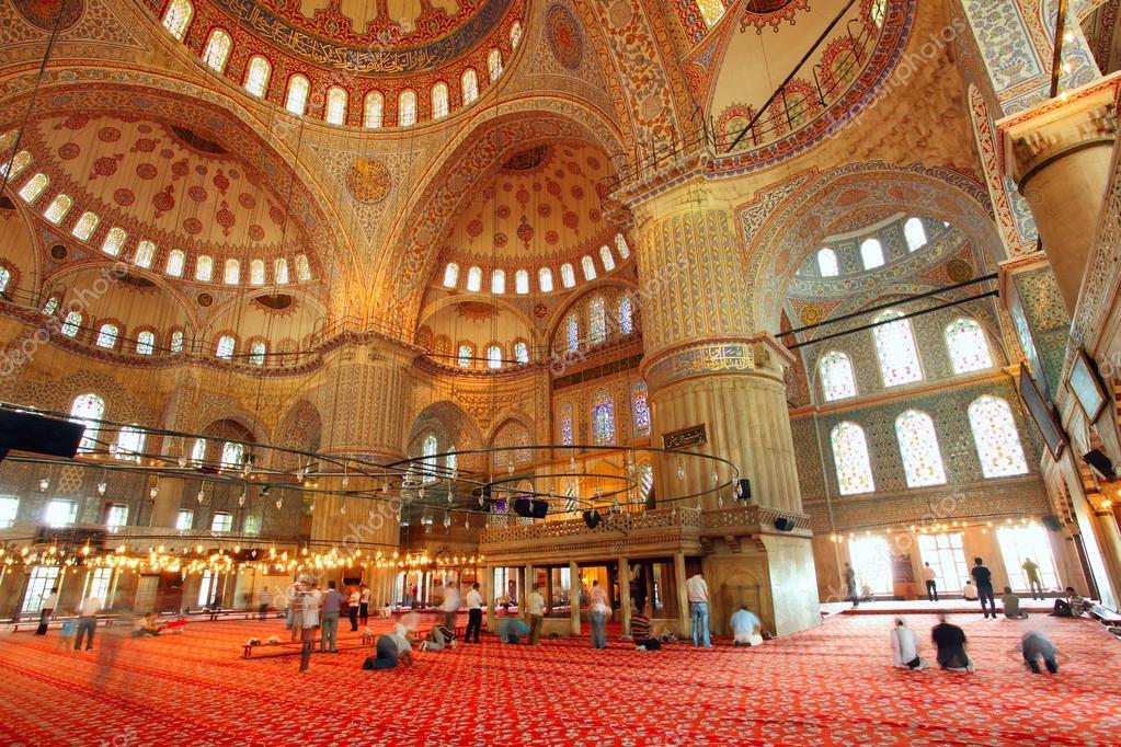 L 39 int rieur de la mosqu e bleue islamique istanbul for A l interieur inside