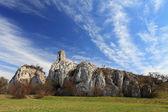 Zřícenina hradu v waisenstein, Pálava Morava, Česká republika