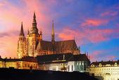 Pražský hrad v západu slunce