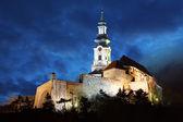 Slovensko - nitra hradu v noci