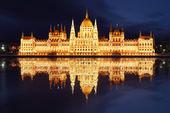 Budapest - magyar Országgyűlés éjjel - Magyarország