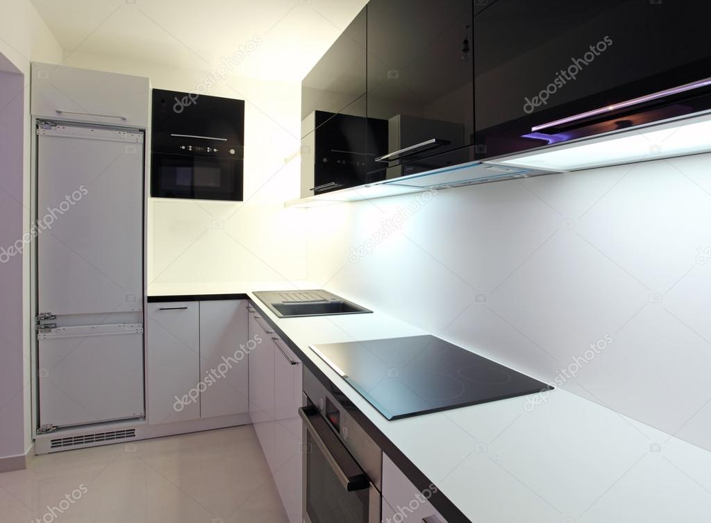 cocina moderna en mansión de lujo en Australia — Fotos de Stock ...