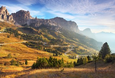 """Картина, постер, плакат, фотообои """"прекрасный летний пейзаж в горах. восход солнца - италия альп постеры фотографии арт"""", артикул 25923169"""
