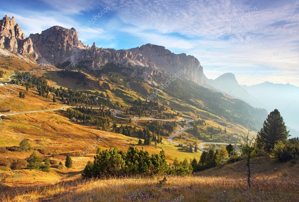 Beautiful summer landscape in the mountains. Sunrise - Italy alp