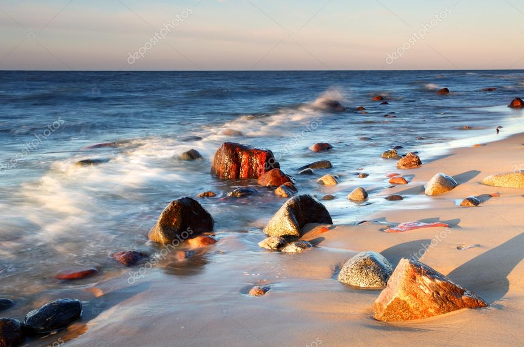 Stones on shore of the Baltic Sea.