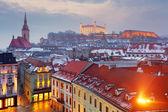 Fotografie město východní Evropy panorama - Slovensko - Bratislava
