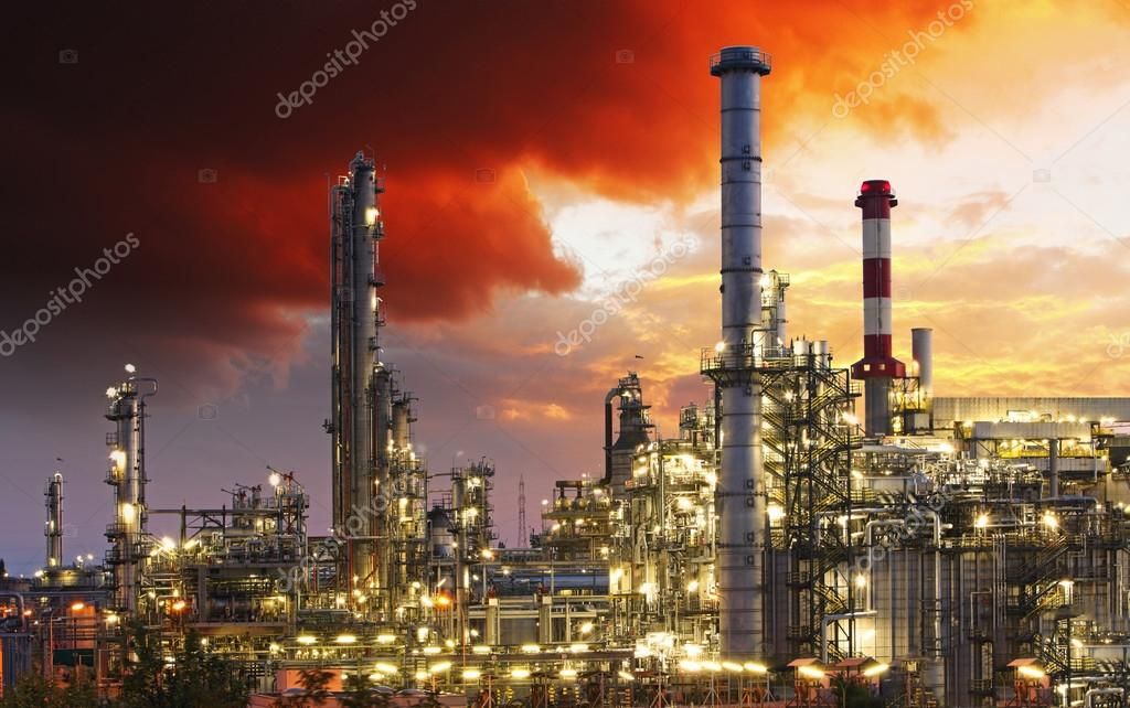Oil industry factory
