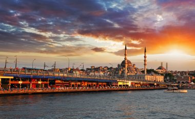 Istanbul at sunset, Turkey