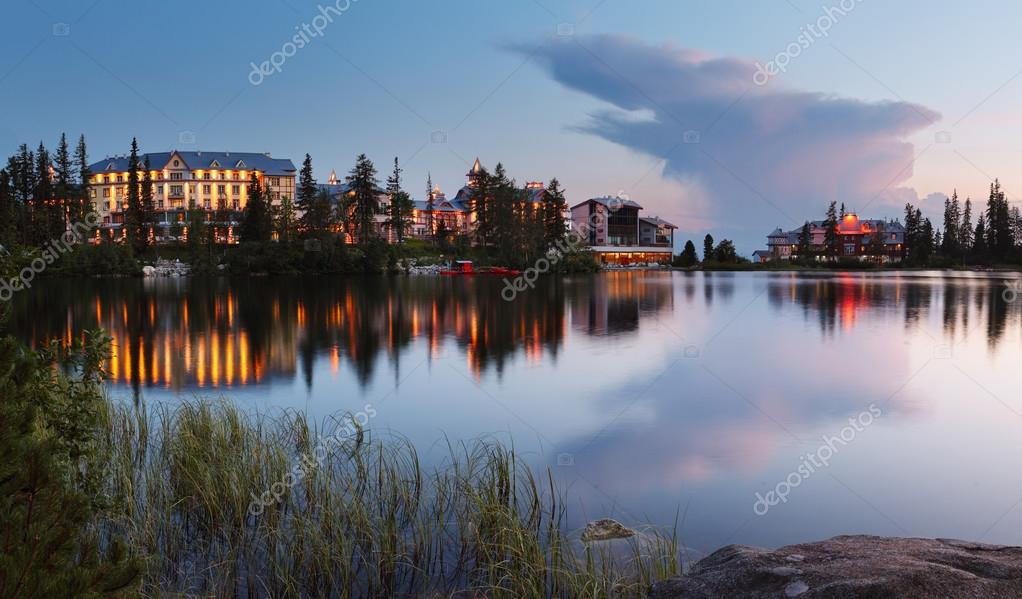 Storm clouds over the Strbske pleso