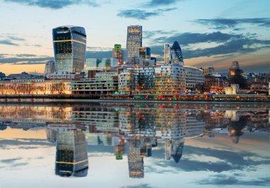 London Skylines at dusk England, UK