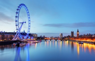 LONDON, UNITED KINGDOM - JUNE 19: London Eye on June 19, 2013 in