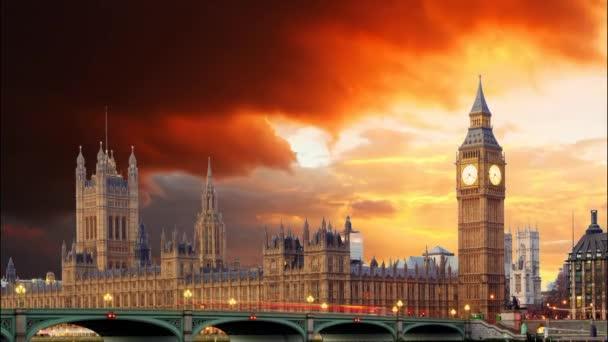 Londýn - časová prodleva při západu slunce