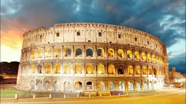 Colosseum, Řím, Itálie - časová prodleva