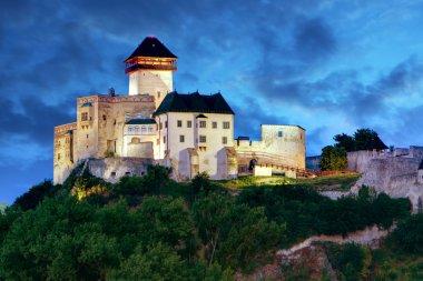 Slovakia Castle at night - Trencin