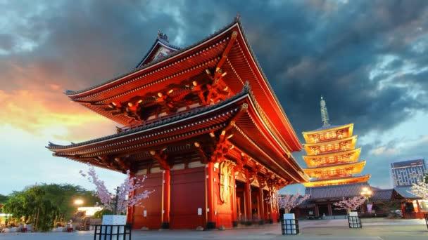 Tokio - sensoji-ji, chrám v asakusa, Japonsko