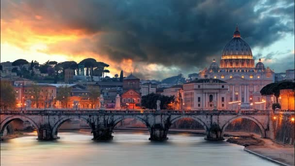 Rome - Vatican at sunset, time lapse