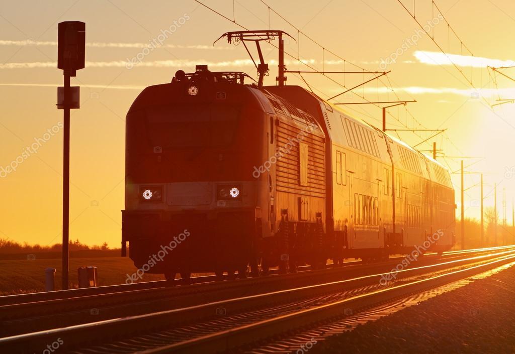 Train cargo in railroad