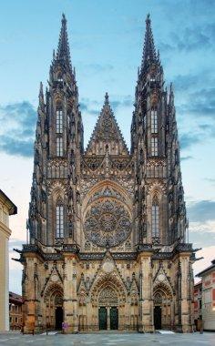 St. Vitus cathedral in Prague Castle in Prague