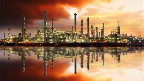 ropné rafinerie, časová prodleva