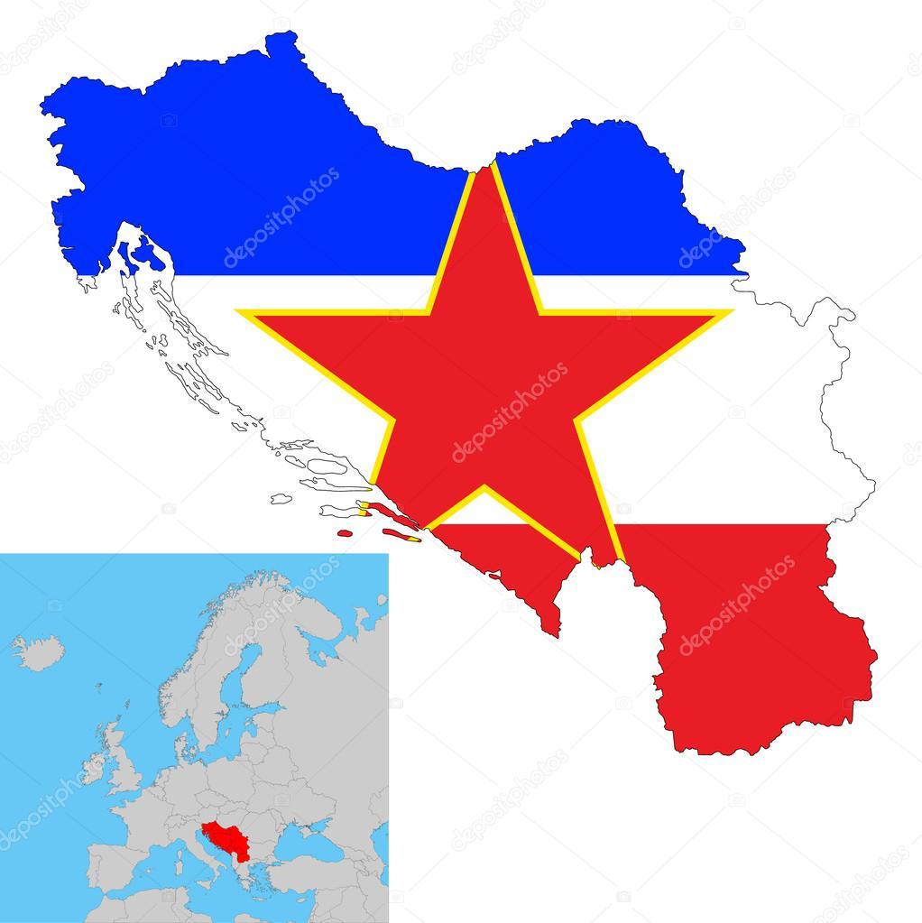 Jugoslawien Karte.Jugoslawien Stockvektor Opka186 41850999