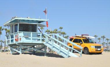 Lifeguard tower at Santa Monica