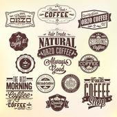set di etichette vintage retrò orzo caffè.