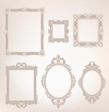 Vintage old frames