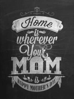 Vintage Happy Mother's Day Typographical