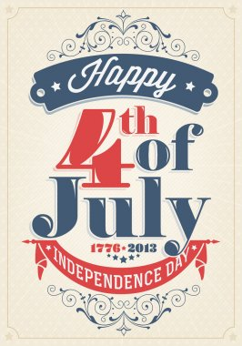 Vintage Style Independence Day poster