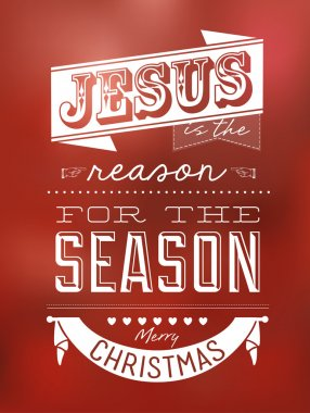Vintage Christmas Typographical Background