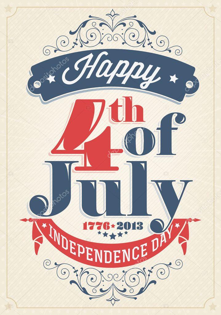 Plakat Dzień Niepodległości W Stylu Vintage Grafika