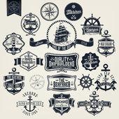 Fotografia Etichette e Badger nautico retrò vintage