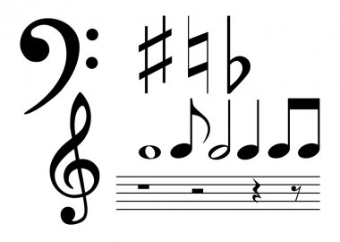 Musical notes and signs