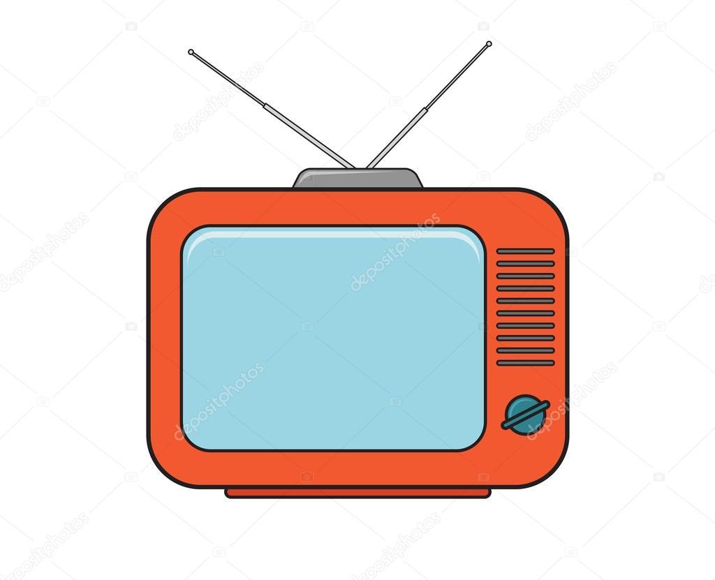 tv drawing. tv set drawing in color 2 u2014 stock vector 43957445 tv