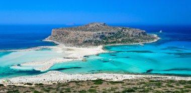Beautiful white-blue coast near the Gramvousa Island.