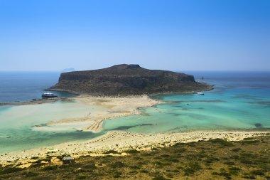 Merger of the seas in Gramvusa, Crete