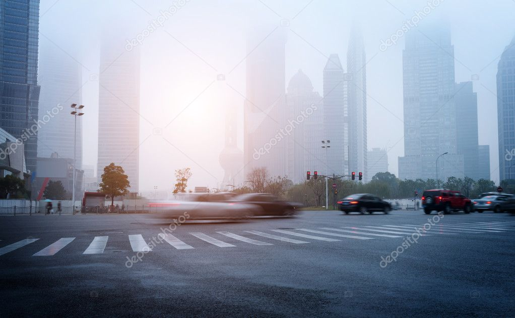 The city's streets and car