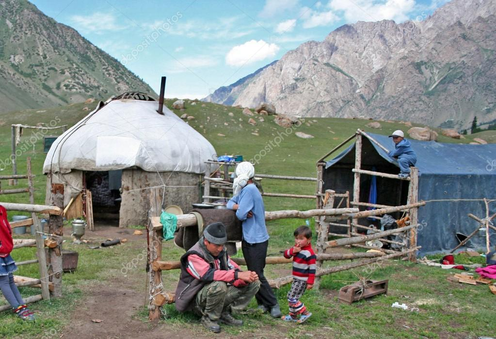 Yurt camp in central Asia