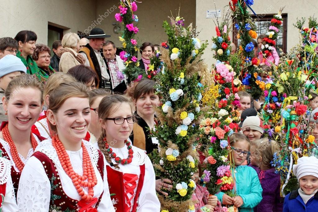 Oster-Palm-Wettbewerb - Polnisch-Landschaft — Redaktionelles ...