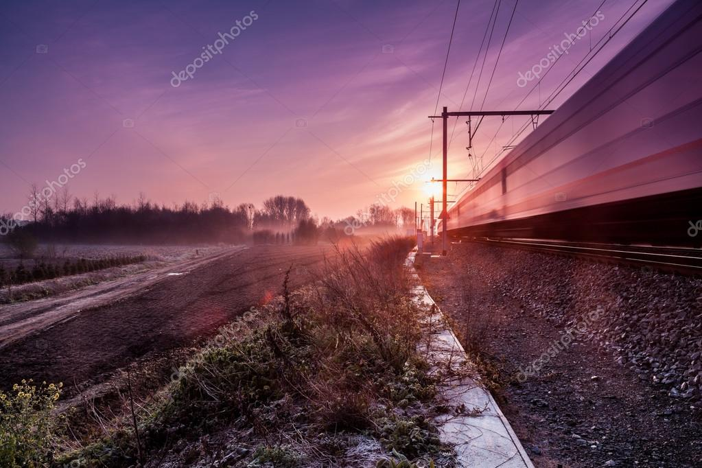 sunrise whit train