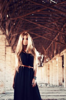 young pretty cute blonde girl