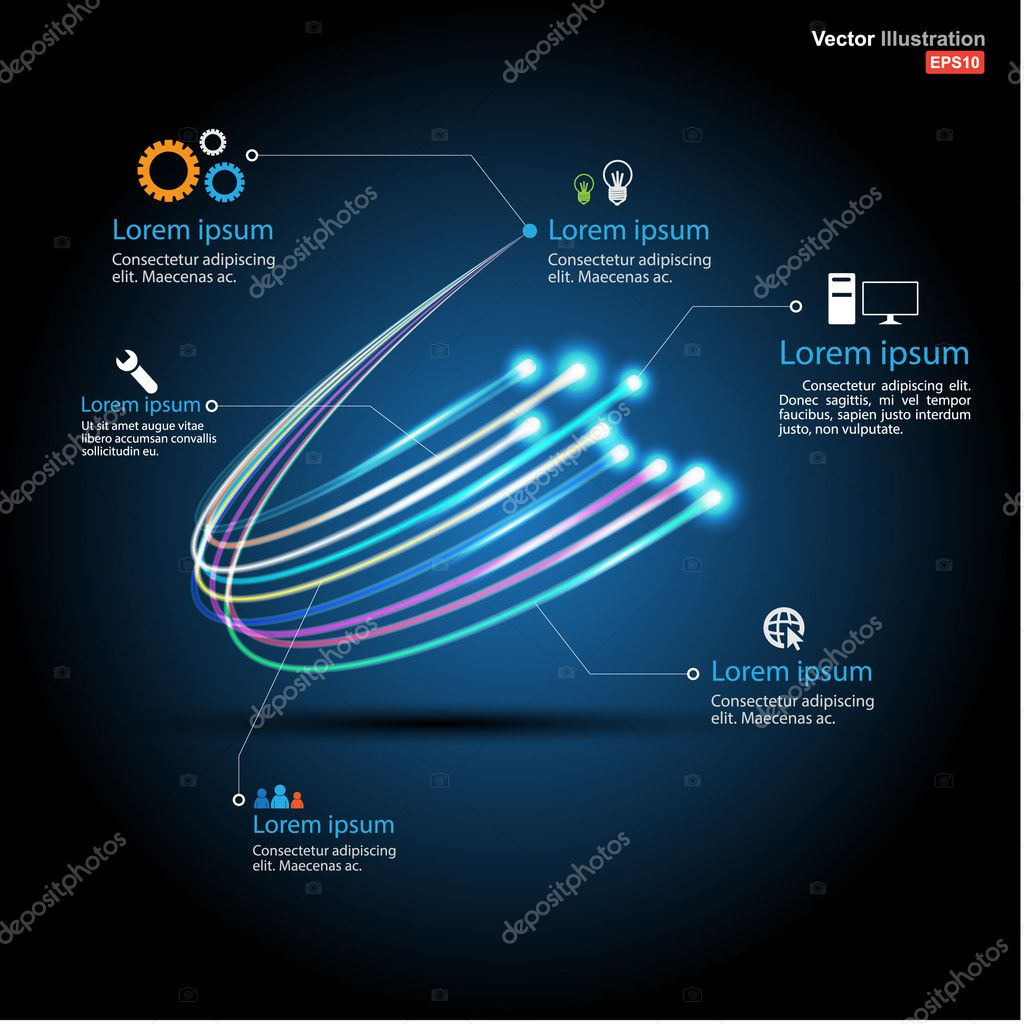 Fiber optic connection / business communication / network technology