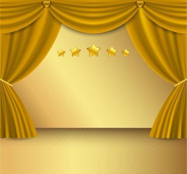 Gold curtain.