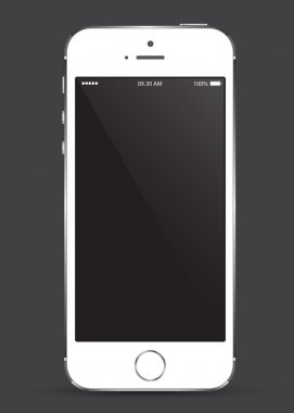 mobile phone smartphone with blank screen